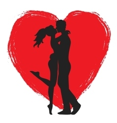 lovers and heart vector image
