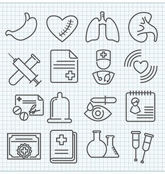 Medicine theme icons set vector