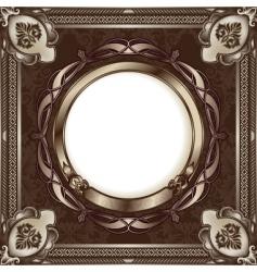 metallic vintage frame vector image vector image