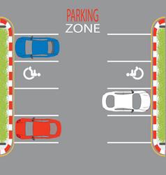 parking zone3 vector image vector image