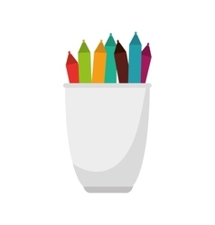 Pencil holders isolated icon vector