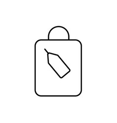 shoping bag with tag icon vector image vector image