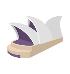 Sydney Opera House icon cartoon style vector image