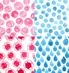 Watercolor abstract pattern vector image