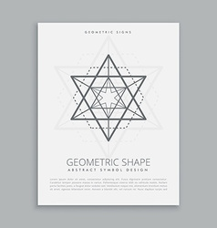 Sacred geometric shapes vector