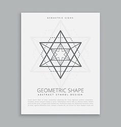 Sacred geometric shapes vector