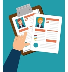 human resources clipboard hired design isolated vector image