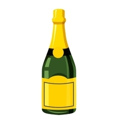 Champagne bottle icon isometric 3d style vector
