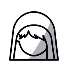 Isolated holy mary design vector