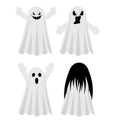 Simple spooky ghosts4 vector