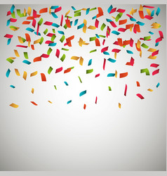 Confetti explosion festival isolated vector