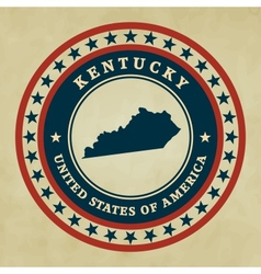 Vintage label kentucky vector