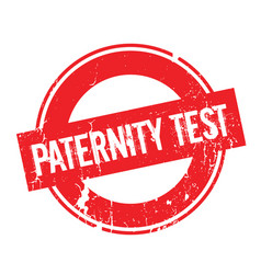Paternity test rubber stamp vector