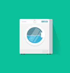 Washing machine flat cartoon vector