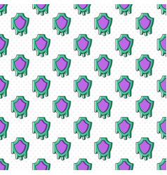 Melting shield seamless pattern vector