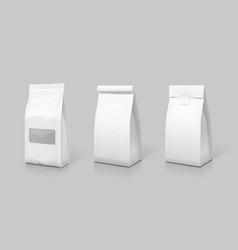 white blank tea bag package set vector image
