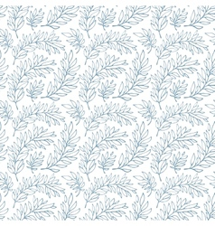 Seamless pattern decorative branches vector
