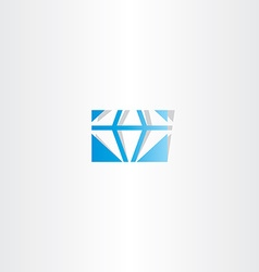 Blue diamond logo icon sign vector