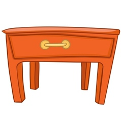 Cartoon home furniture table vector