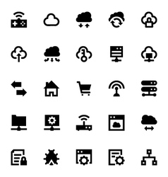 Cloud data technology icons 5 vector
