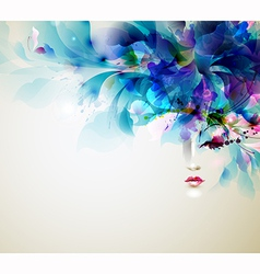 abstract women vector image