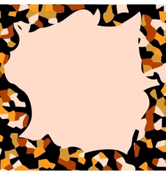 Autumn abstract frame vector image vector image