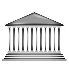 Bank sign icon vector