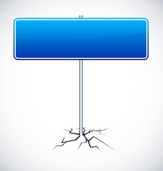 Blank road sign vector