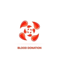 blood donation logo vector image
