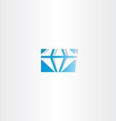 Blue diamond logo icon sign vector