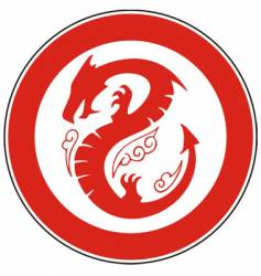 chinese dragon in a circle vector image