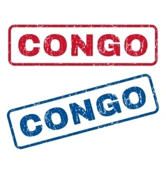 Congo rubber stamps vector