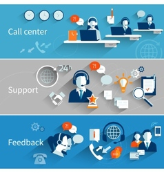Customer service banners vector