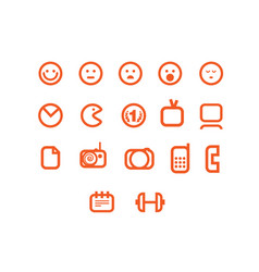 Different web icons set vector