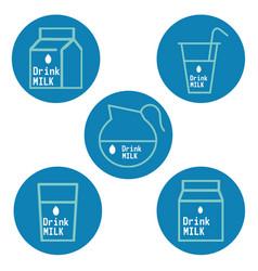 Drink milk labels vector