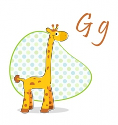 g for giraffe vector image vector image