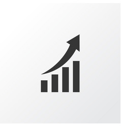 growing chart icon symbol premium quality vector image