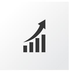 Growing chart icon symbol premium quality vector