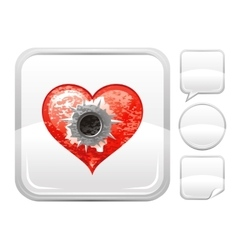 Happy valentines day romance love heart shot vector