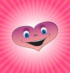Heart boy character vector image