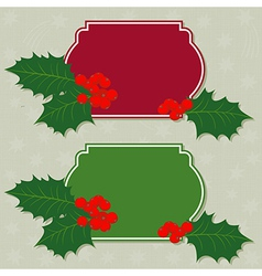 Home christmas made frames vector image vector image