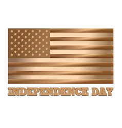 independence day design gold usa flag vector image vector image