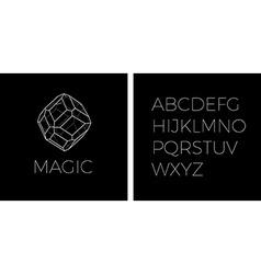 Line art precious stone logo vector