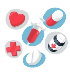 Medical theme icons set vector