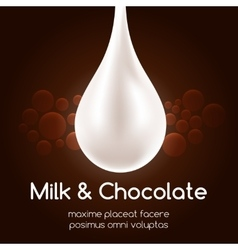 Milk drop and black chocolate wallpaper vector
