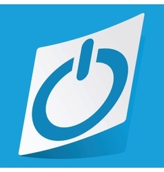 Power sticker vector