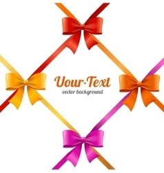 Present Satin Ribbon and Bow Card vector image vector image