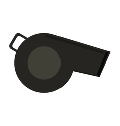 Referee whistle american football icon vector