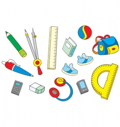 school objects vector image vector image