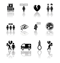 Set of mental health icons vector